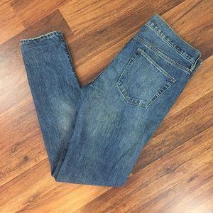 Madewell Distressed Skinny Boyfriend Jeans